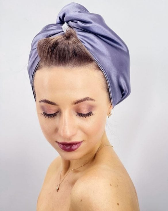 pomysły na prezent dla mamy - turban do włosów